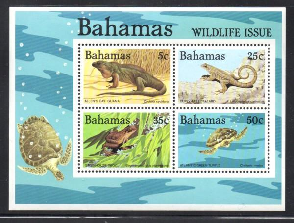Bahamas Sc 567a 1984 Wildlife stamp sheet mint NH