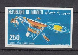 DJIBOUTI SC# C140 VOYAGER PASSING SATURN MNH - IMPERF
