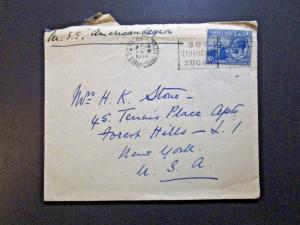 Trinidad & Tobago 1934 Cover to USA - Z3891