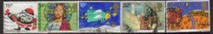 Great Britain Sc 960-4 1981 Christmas stamps used