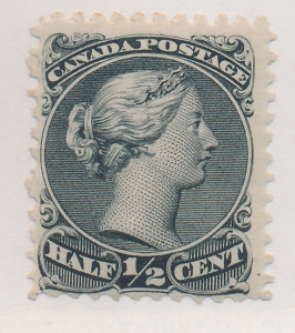 Canada Stamp Scott #21, Mint Lightly Hinged, Original Gum, Great Color - Free...