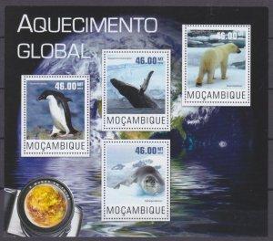 2014 Mozambique 7630-7633KL Fauna - Global ecology 10,00 €