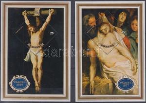 Rwanda stamp Easter: Rubens paintings 2 blocks MNH 1977 Mi 74-75 WS146685