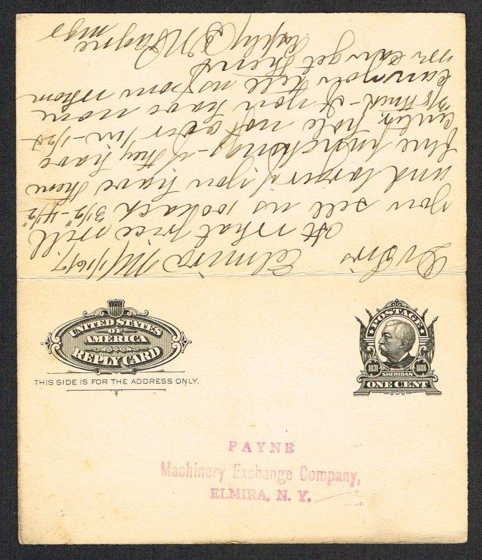 United States Reply Card Scott UY4
