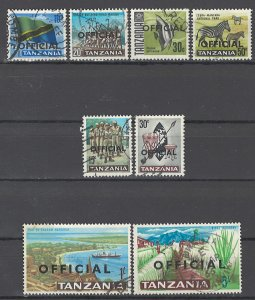 COLLECTION LOT OF # 1728 TANZANIA # O9-16 1967