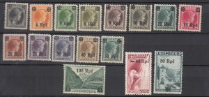 J25712 JLstamps 1940  WWII luxembourg set mh #n17-32 german occupation