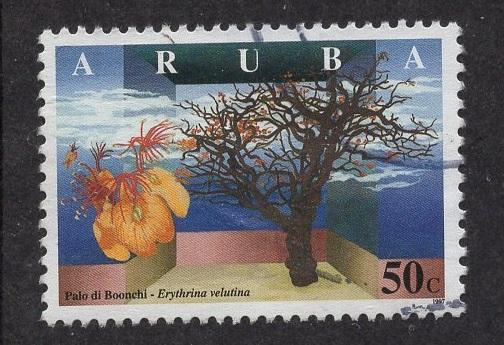Aruba   #154   used  1997  wild flowers 50c