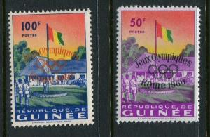 Guinea #201-2 Mint With Olympic Overprint