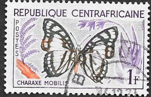 Central African Republic Scott #5 1fr Butterfly (1964) CTO NH
