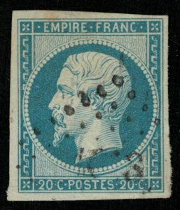 1853-1861, Emperor Napoléon III, France, 20 c, SC #15 (Т-8016)