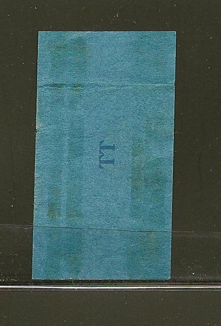 USA USIR Class A20 Cigarettes Series 124 TT Cigarette Tax Stamp Used