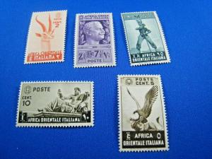 ITALY-EAST AFRICA -  SCOTT #1-5  -  MNH   (wwi27)