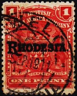 Rhodesia. 1909 1d S.G.101 Fine Used