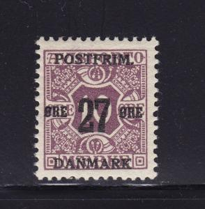 Denmark Scott # 141 VF OG never hinged nice color cv $ 225 ! see pic !