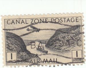 Canal Zone, Scott #C14 - $1 Black - Used
