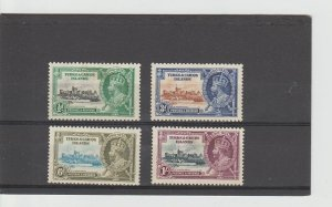 Turks and Caicos  Scott#  71-74  MH  (1935 Silver Jubilee)