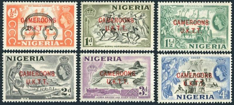 Cameroons UKTT 66-71,MNH. Manilla bracelet,ships;Bornu horsemen;Peanuts;Bridge,