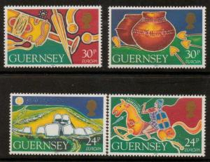 GUERNSEY SG634/7 1994 ARCHAEOLOGICAL DISCOVERIES MNH