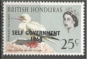 BRITISH HONDURAS, 1964, MNH 25c, SELF GOVERNMENT, Scott 186