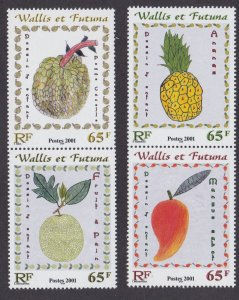 Wallis & Futuna # 545-546, Children's Drawings of Fruit, NH, 1/2 Cat.