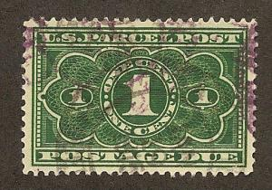 JQ1 Used 1c. Parcel Post, Postage Due, XF-S,  FREE INSURED SHIPPING