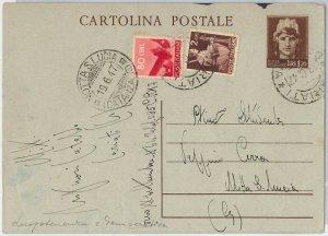 57193 -  INTERO POSTALE della LUOGOTENENZA C124 usato in periodo REPUBBLICA 1947
