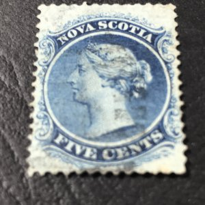 NOVA SCOTIA # 10-USED-----BLUE-----1860-63