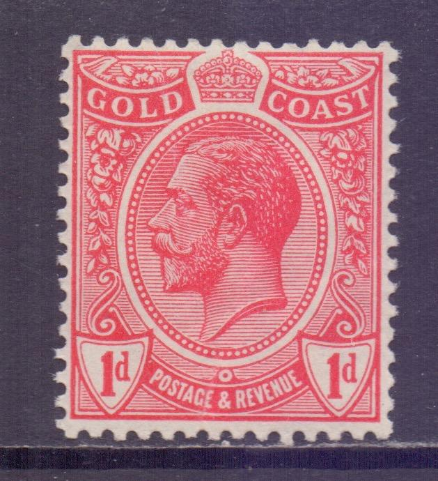 Gold Coast Scott 70 - SG72, 1913 George V 1d MNH**
