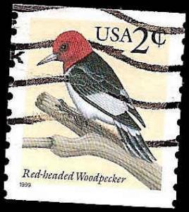 # 3045 USED RED-HEADED WOODPECKER