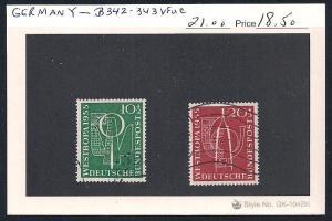 GERMANY Sc#B342/343 Used set
