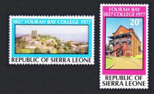 Sierra Leone 150th Anniversary of Fourah Bay College 2v SG#599-600