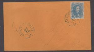 **CSA Cover, SC# 4 XF, Charlottesville, VA, 4/30/1862, Blue CDS