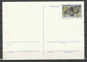 Austria, $4.00 Butterfly Postal card. ^