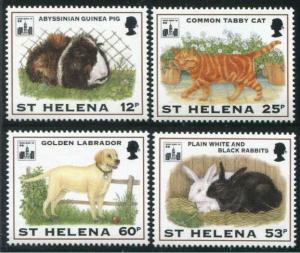 HERRICKSTAMP ST. HELENA Sc.# 619-22 Adorable Pets