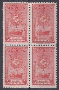 Venezuela Scott C271 Mint NH block (key value in set)