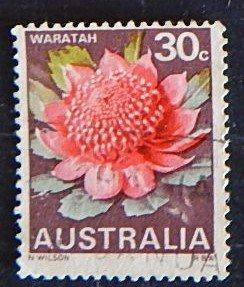 Australia, Flowers, (№1556-Т)