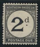 Northern Rhodesia  SG D2 SC# J2 MH Postage Due 1929 - see details
