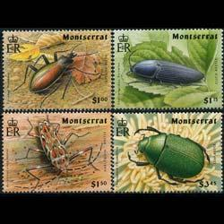 MONTSERRAT 1994 - Scott# 835-8 Beetles Set of 4 NH