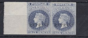 SA14) South Australia 1884 watermark Crown over SA 6d Blue imperf