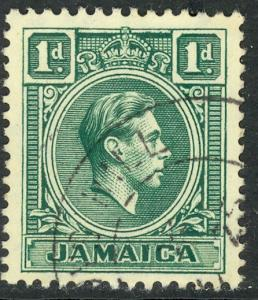 JAMAICA 1951 KGVI 1d Blue Green Portrait Issue Scott No. 149 VFU