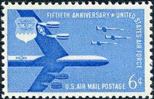 #C49 – 1957 6c Airmail Air Force. MNH. OG. VF