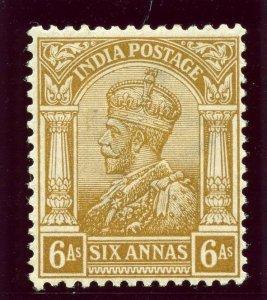 India 1911 KGV 6a brown-ochre superb MNH. SG 178.
