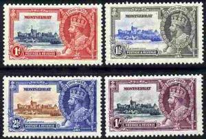 Montserrat 1935 KG5 Silver Jubilee set set of 4 mounted m...