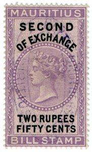 (I.B) Mauritius Revenue : Bill of Exchange 2R 50c (Second)
