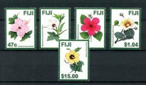Fiji 2016 MNH Hibiscus Flowers 5v Set Flora Nature Stamps