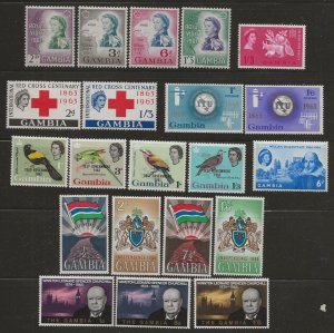 Gambia mint sets group [mh] 2 scans