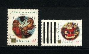Canada #1452, 1455   -1   used 1992 PD