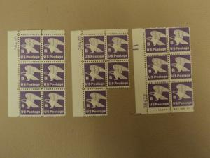 USPS Scott 1818 18c B US Postage Purple Eagle Lot of 3 Pl...