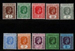 $Leeward Islands Sc#103-112 M/H/VF, part set, Cv. $23.45