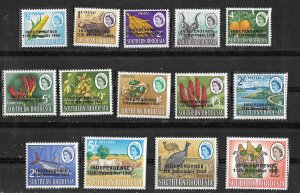 Rhodesia #  208-221 INDEPENDENCE Overprints  (14)  Mint NH